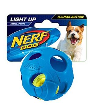 JEPetz - Nerf Dog LED Bash Ball Blue