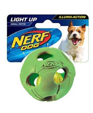 JEPetz - Nerf Dog LED Bash Ball Green