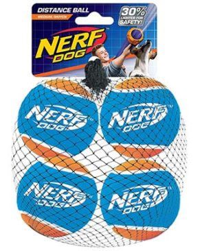 JEPetz - Nerf Dog Tennis Ball 4 Per Pks
