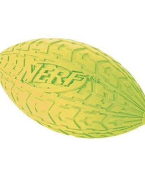 JEPetz- Nerf Dog Tire Squeak Football Green
