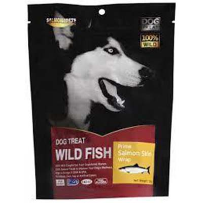 JEPetz - Fish4Pets Freeze Dried Prime Salmon Skin Wrap Dog