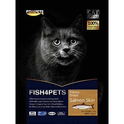 JEPetz - Fish4Pets Freeze Dried Salmon Skin Cat