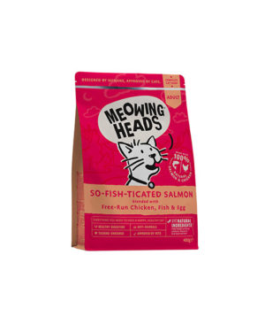 Meowing Heads So Fish Ticated Salmon Dry Cat Food