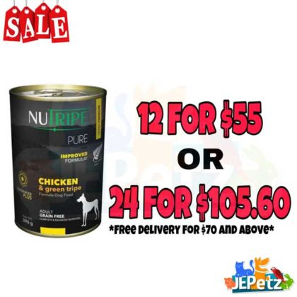 Nutripe Pure Chicken & Green Tripe Canned Dog Food
