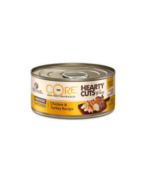 Wellness CORE Hearty Cuts Indoor Shredded Chicken Turkey Cat Canned Food Front
