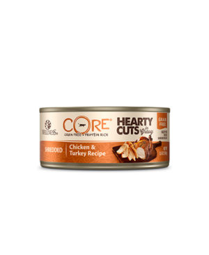 Wellness CORE Hearty Cuts Shredded Chicken & Turkey Cat Canned Food