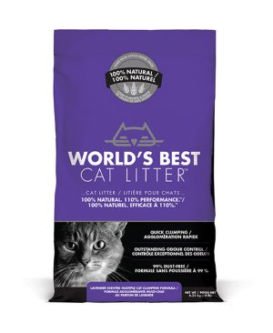 World's Best Cat Litter Lavender Scented Multiple Cat Clumping Corn Cat Litter